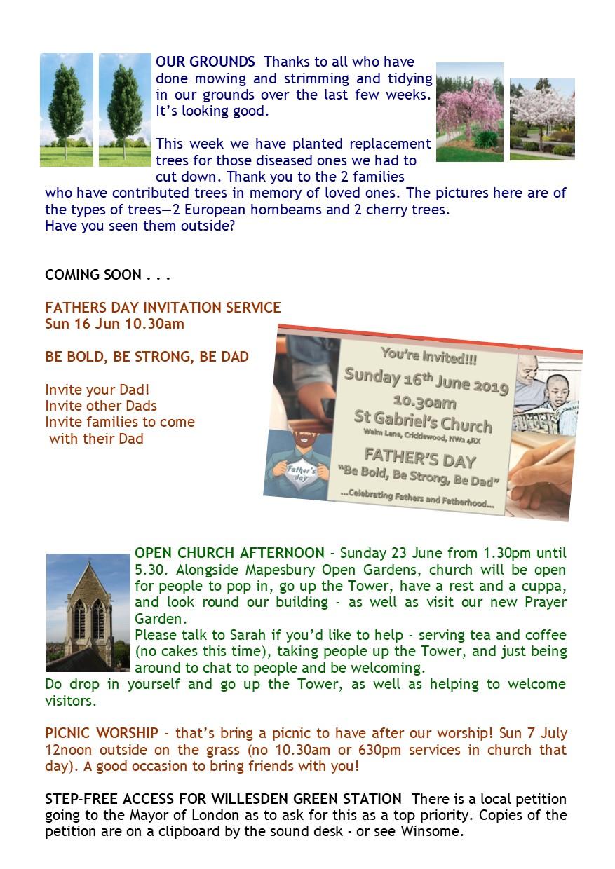 St Gabriels, Cricklewood : This Week's News